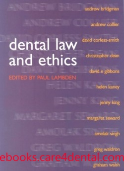 Ethics and law for the dental team pdf
