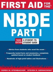 First Aid for the NBDE Part 1, 3rd Edition (pdf)